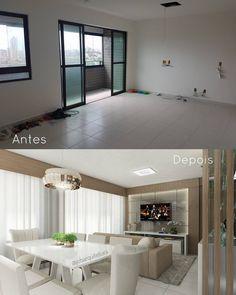 """1,989 Likes, 92 Comments - Arq. Janaina Oliveira Bezerra (@jobarquitetura) on Instagram: """"Mais um antes e depois dessa sala!? Simmmmm, porque ficou um arraso ❤. Desta vez um ângulo…"""""""