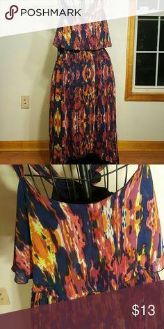 Slight how low dress Multicolored long high low dress black rainn Dresses High Low