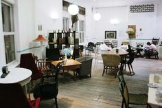 Ziferblat, the pay-as-you-go cafe - At this Shoreditch café, all food and drink is free. Sounds too good to be true? That's because it's the UK's first pay-as-you-go cafe, where everything is free except the time you spend there. Customers pay 3p per minute – or £1.80 an hour – for unlimited food, coffee and wi-fi.
