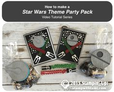 how to make a stampin up star wars party pack gift set video