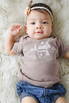 Sweet Summit Baby Lap Tee from The Printed Palette