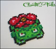 Pixel Art Pokemon Venusaur made with Perler Beads by Chaotik Falls on Etsy. $6.00 CAD plus shipping.