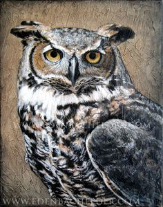 Great Horned Owl, signed and matted print, from a painting by Eden Bachelder, $40.00