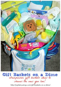 Gift Baskets on A Dime: Gift Basket Ideas for inexpensive prices