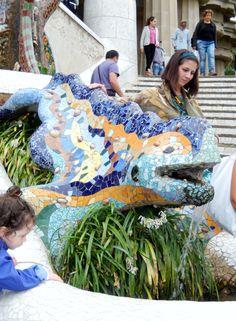 Gaudi's dragon at Parc Guell, Barcelona