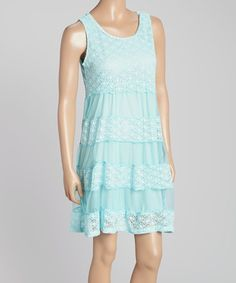 Look what I found on #zulily! Aqua Crochet Dress - Women by Aqua Blue #zulilyfinds