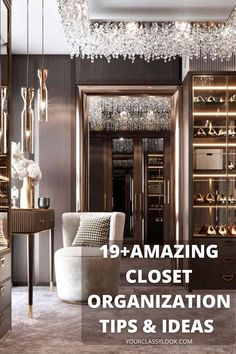 Wardrobes are notoriously hard to keep organized. Fortunately, there is 8 life hacks which will help you to keep your dressing room cozy and organized easily! Closet organisation ideas, closet design, closet ideas, dressing room design ideas, dressing room closet, wardrobe design organisation. #dressingroom #makeuproom #closet#decor #interior #dressingroominterior #wardrobe#wardrobeinterior #wardrobedesign #cleaning