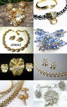 Rhinestones Rock - #VJSE2 Group Team by www.etsy.com/shop/LynnsBeadsNThings --Pinned with TreasuryPin.com #vintage #fashion #jewelry