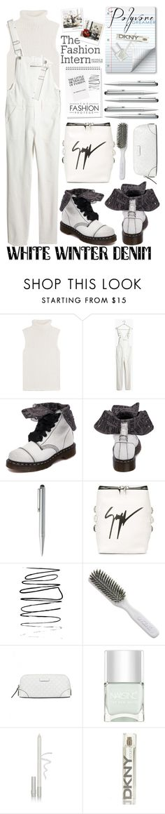 """8th Place Group Contest ~ The Fashion Intern"" by mrs-rc ❤ liked on Polyvore featuring Theory, Madewell, Dr. Martens, HUGO, Giuseppe Zanotti, Kent, Gucci, Nails Inc., Blinc and DKNY"