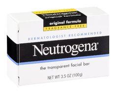 Neutrogena Original Formula Fragrance Free Transparent Facial Bar 3.5 oz (Pack of 6)
