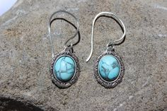 Oh so pretty Turquoise Earrings! https://www.etsy.com/listing/200028594/la-villa-real-turquoise-earring-set?ref=shop_home_feat_1 #turquoiseearrings, #travel, #La Ville Real, La Ville Real, Turquoise earrings, travel jewelry