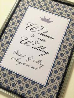 ★ネイビーダマスク★ウェルカムボード♡ Wedding, Valentines Day Weddings, Weddings, Marriage, Chartreuse Wedding