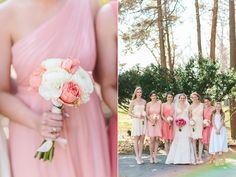Pink Bridesmaids Dresses | Photography: Lauren Fair Photography