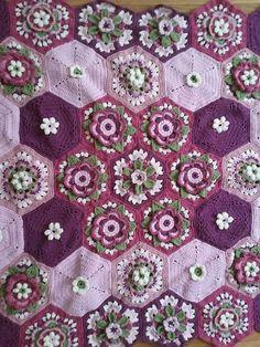 Frida's Flowers Blanket CAL 2016 ... Variations ...