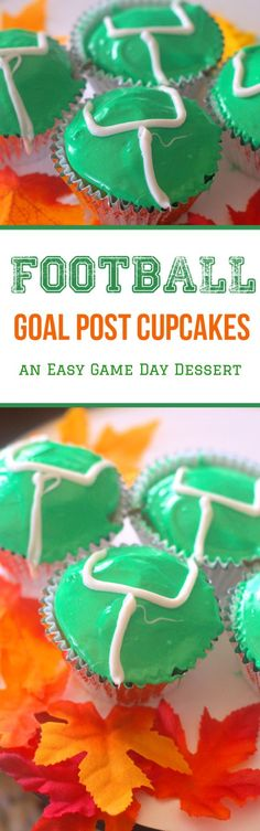 Football Goal Post Cupcakes. Perfect for Game Day or for the Superbowl!