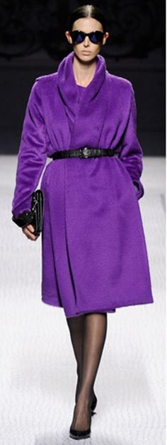 Shades of purple:  Amazing purple coat
