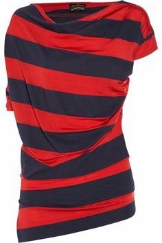 Vivienne Westwood Anglomania  Drape striped jersey top  $360  YES, PLEASE