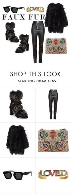 """""""Faux fur"""" by petra-milas ❤ liked on Polyvore featuring Charles by Charles David, Alexander Wang, MACKINTOSH, Gucci and CÉLINE"""