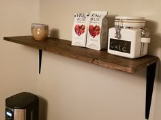 Check out this item in my Etsy shop https://www.etsy.com/listing/484969197/simple-sleek-wooden-shelf