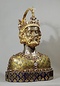 Bust of Emperor Charlemagne... Reliquary / Religious Icons More Pins Like This At : FOSTERGINGER @ Pinterest