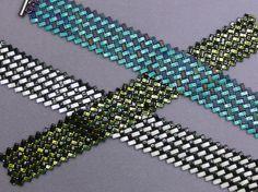 Shirley's Half Tila and 15/0 Herringbone Bracelets