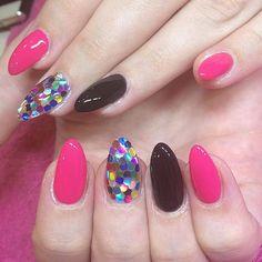 Colorful nails in the winter  #colornails #notd #nailart #nails #nailstagram #pn #pronails_hq #instanail #nailsbyshari #nails2inspire