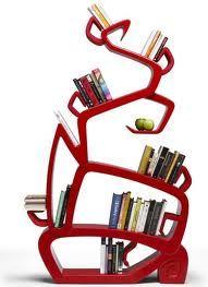 Organic shape tree bookshelf