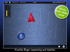 DEXTERIA : soubor léčebných cvičení ruky (ne hry), které zlepšují jemnou motoriku a grafomotoriku a ergoterapii.   Funkce automatického vyhodnocování a sledování pokroku