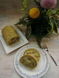 Matcha Marble Roll Cake 抹茶大理石蛋糕卷 (中英加图对照食谱)