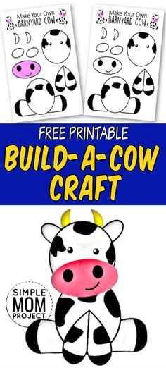 Farm Animals Preschool, Barnyard Animals, Preschool Themes, Preschool Crafts, April Preschool, Vbs Crafts, Farm Animal Crafts, Animal Art Projects, Toddler Art Projects