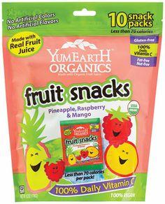 Coming soon: Tropical YumEarth Organics Fruit Snacks: Pineapple, Raspberry and Mango