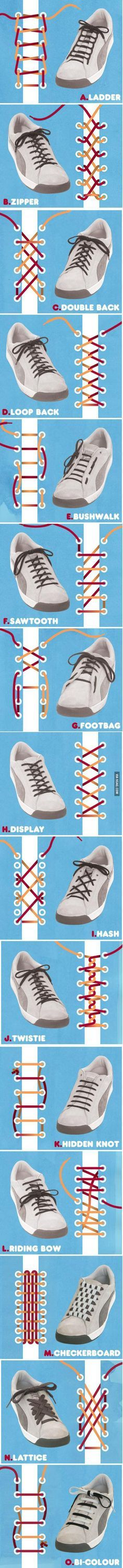 how to tie shoelaces in cool ways