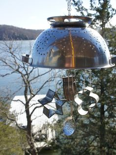 Colander Wind Chime - The world's most private search engine