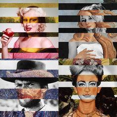Fancy - Mash-Up Prints by Luigi Tarini Bar Fancy, Art Object, Ink Painting, All Print, Artsy Fartsy, Fine Art Paper, Luigi, Pop Culture, Graffiti