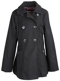 Urban Republic Big Girls Classic Wool Look Double Breasted Winter Peacoat Jacket - Black (Size 14) Urban Republic http://www.amazon.com/dp/B014JOHUXM/ref=cm_sw_r_pi_dp_pbpjwb1YMFK46