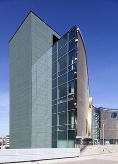 Northern Design Centre, UK. EQUITONE fibre cement facade materials. #architecture #material #facade