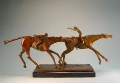 <p><strong>Price: </strong>$3100<br /> <strong>Medium: </strong>S/N Lim. Ed. Bronze<br /> <strong>Size: </strong>12 in. x 4 in. x 16 in.</p>