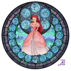Stained Glass: Ariel by *Akili-Amethyst on deviantART