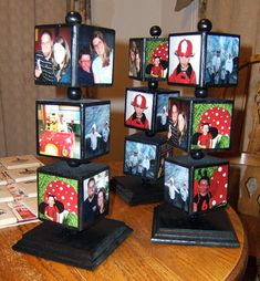 would make a neat #display - cubes on a dowel that spin. Use pictures of your gourd arts and crafts. Great idea to bring attention to your work.