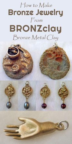 BRONZclay Techniques for Making Bronze Jewelry and Sculptures