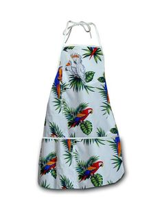 Kitchen Apron - Parrots – Twisted Palms Trading Co.