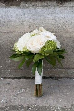 Small white rose bouquet @myweddingdotcom