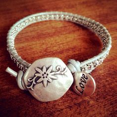 Silver Spacer Beads Wrap Bracelet
