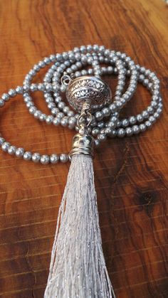 Long beaded tassel necklace with by AllAboutEveCreations on Etsy, $30.00