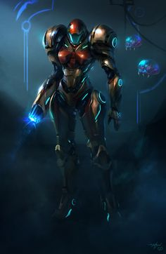 """Samus"" by Dylan Hansen Metroid Samus, Metroid Prime, Samus Aran, Metroid Series, Zero Suit Samus, Super Metroid, Video Game Characters, Video Game Art, Manga Games"