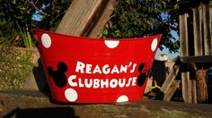 Personalized Birthday Party Clubhouse Minnie Mickey Mouse Table Centerpiece, Bucket,  Gift Basket, Food Container