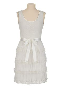 Christopher Straub Lace Tiered Tank Dress