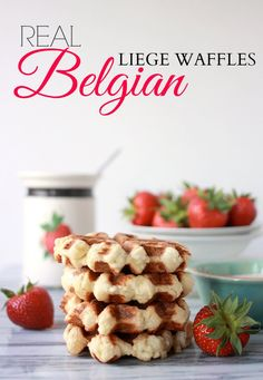 Real Belgian Waffle Recipe, Liege Waffles- Baker Bettie (+ an easy substitute for pearl sugar!)