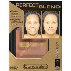 Black Radiance Perfect Blend Concealer Blends easily, no caking!