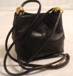L J s Black Shoulder Bag Crossbody Purse Day Bag